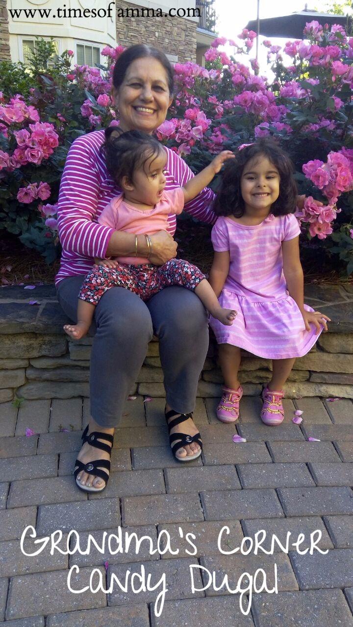 Times Of Amma Grandma's Corner Candy Dugal with her grandkids