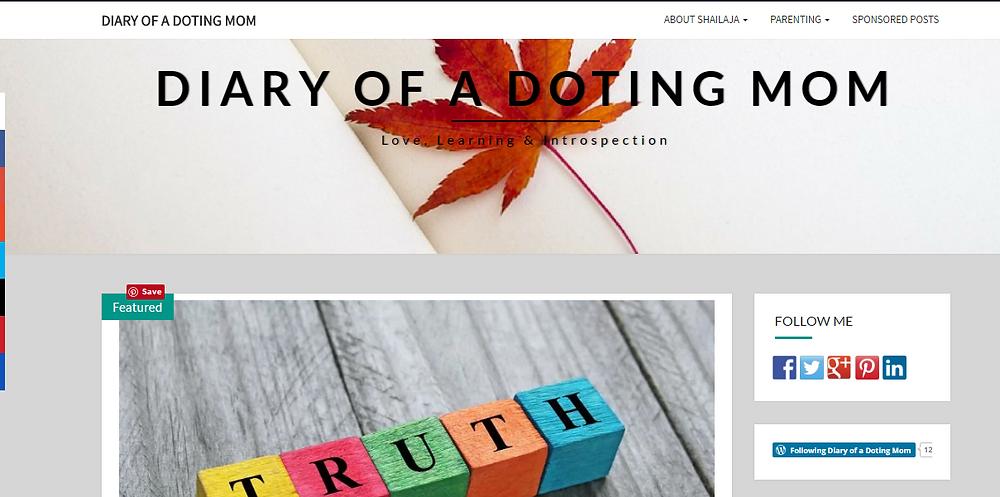 Times Of Amma, Shailaja's Blog