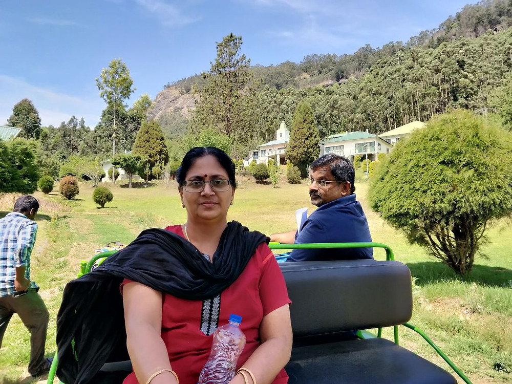 Times of Amma Mother Figure Shreeja sitting on a bench
