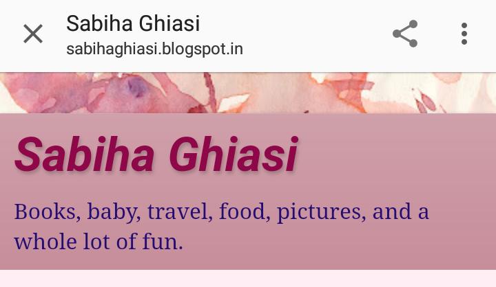 Times of Amma featured Indian Mom Blogger : Sabiha Ghiasi's blog