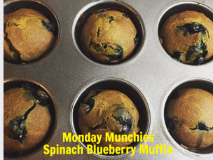 Monday Munchies: Spinach Blueberry Muffin
