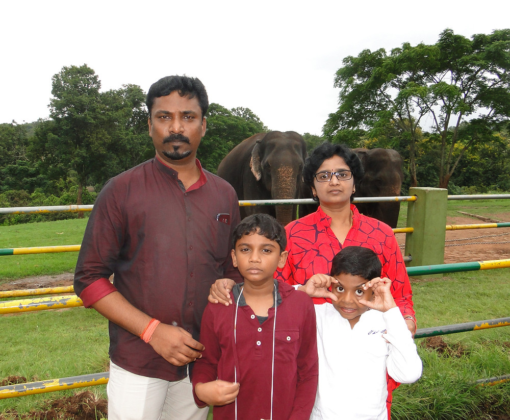 Indian Mom Blogger Menaka with her family featured on Times Of Amma