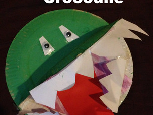 Easy Paper Plate Crocodile Craft