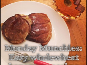 Monday Munchies : Wholewheat Banana Pancakes