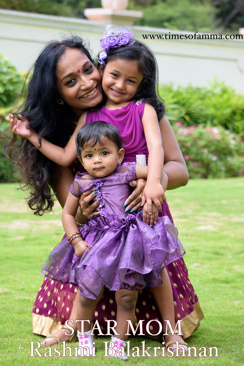 Rashmi Balakrishnan with her two daughters, Inspiring Indian Mother, Times Of Amma