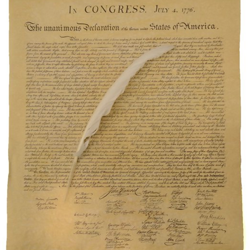US Constitution Replica with Quill Pen