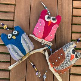 Three owl friends