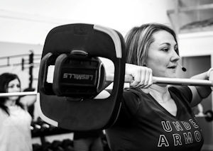 Picture of Lindsey Cramer lifting weights