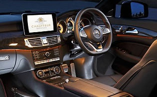 Interior of a Mercedes Benz CLS Coupe