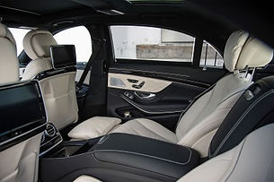 Interior of a Mercedes Benz S Class