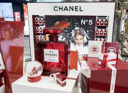 Huge Perspex Chanel Bottle