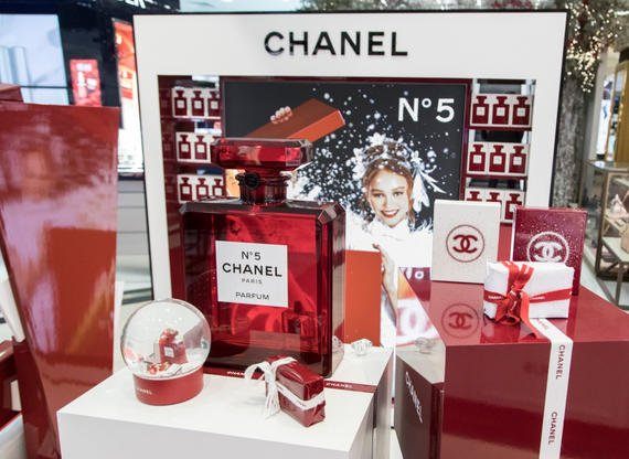 Huge Perspex Chanel Bottle