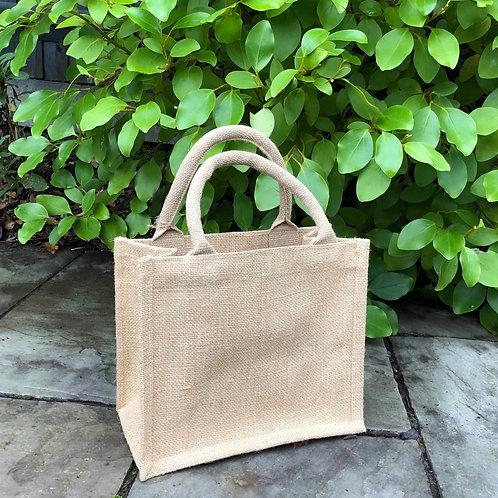 Sparkly hessian jute gift bag