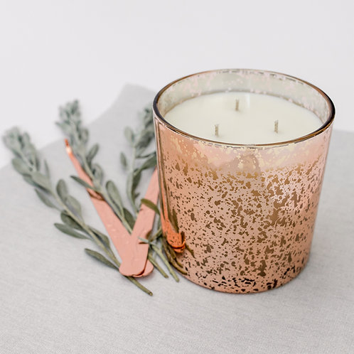 Scented three wick candle
