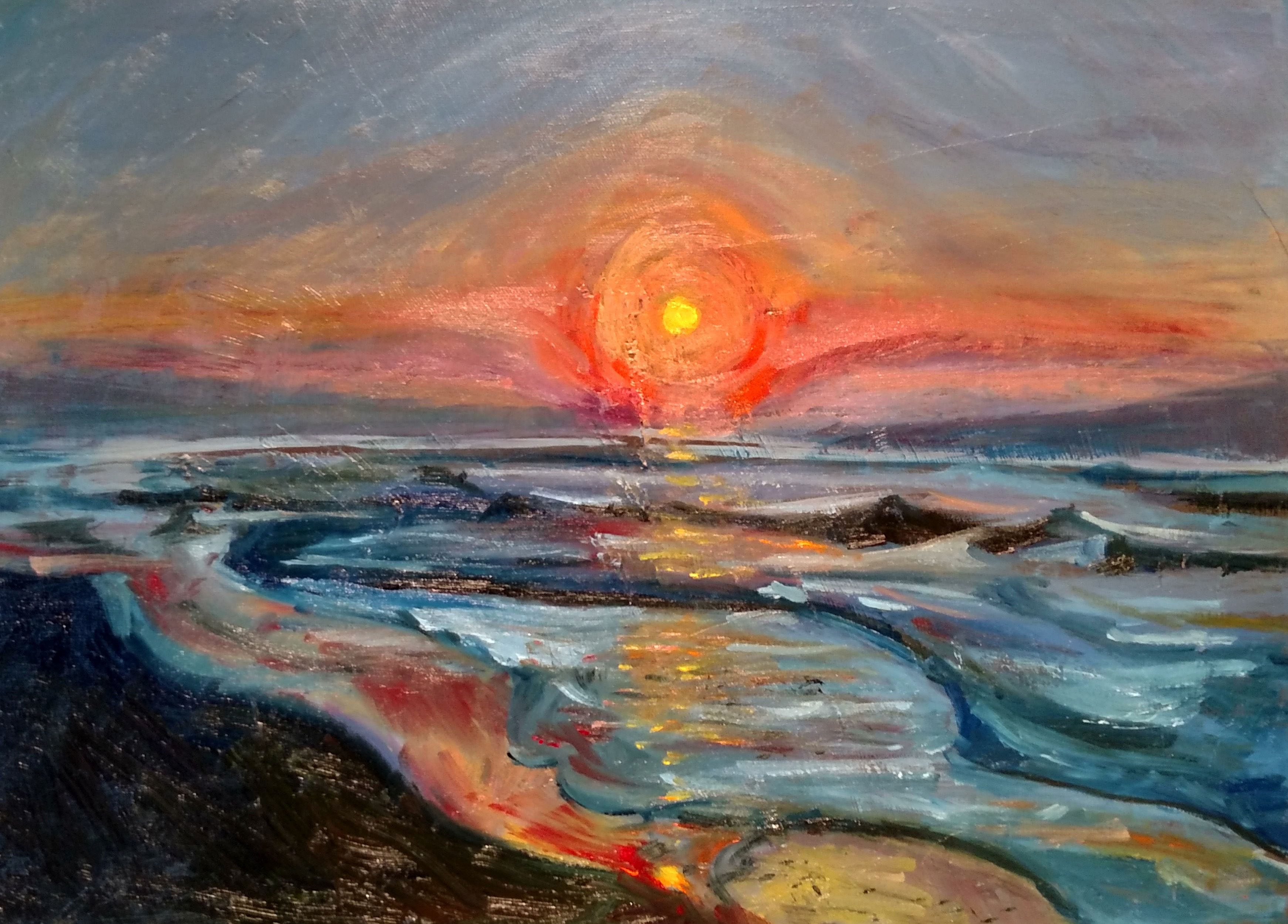 A new dawn 16 x 20 Oil on stretched canv