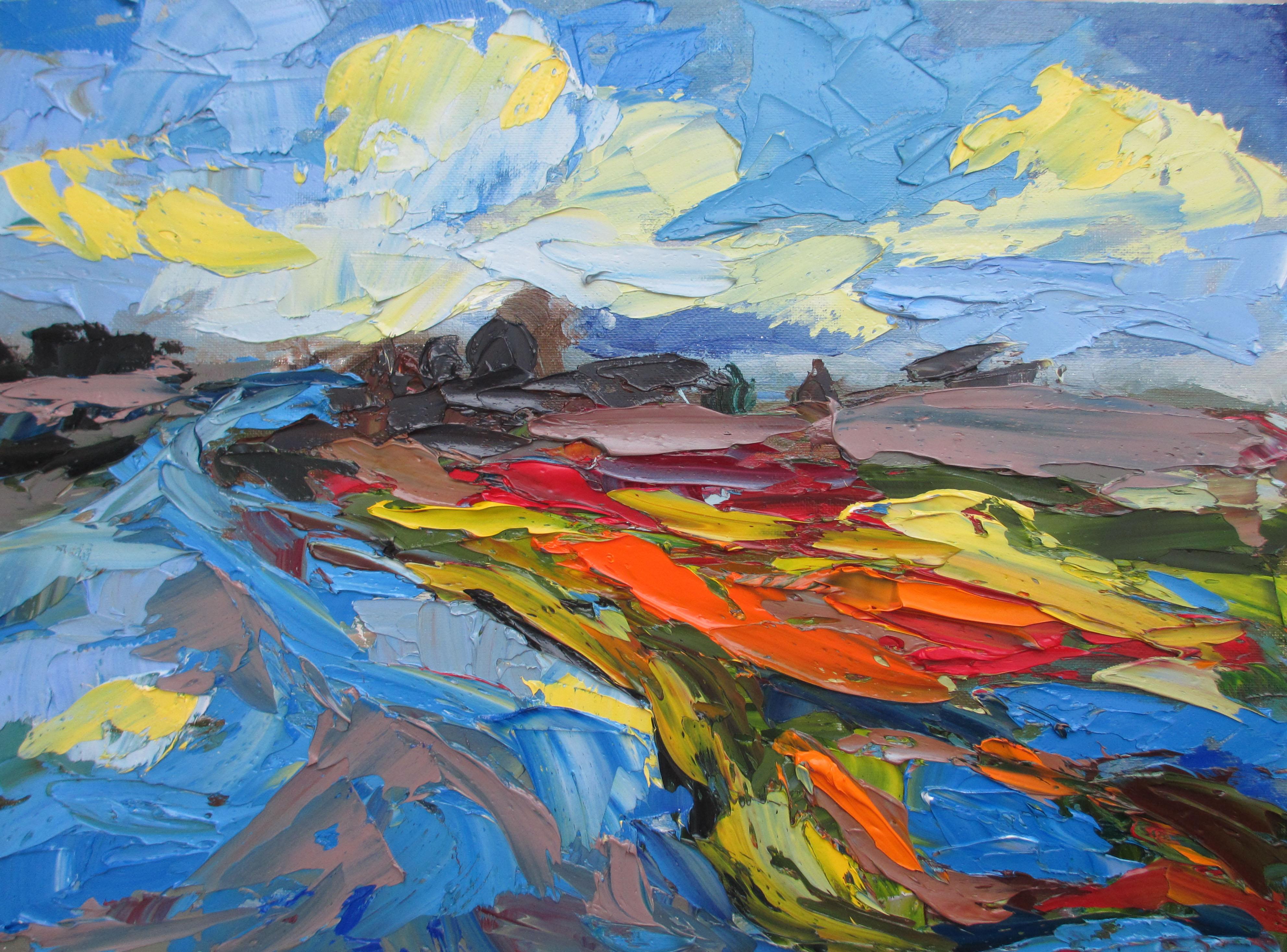Wet land 12 x 16 Oil on canvas panel 201