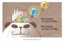 錢入腦是聰明 錢入心是愚笨