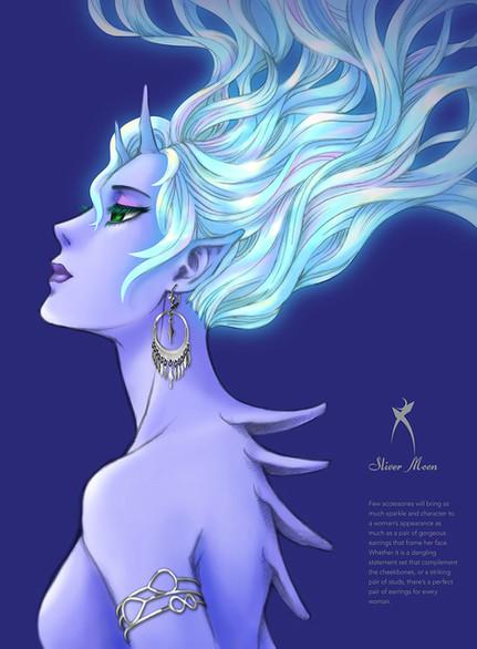 Silver Moon Jewellery Illustration