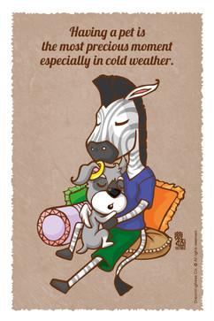 擁有寵物是一件幸福事尤其在寒冷季節 ( 更加體會彼此重要性 )