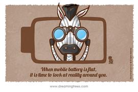 當手機電池沒有電  是時候看看你身邊的真實風景