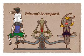 每人所承受的痛苦不能作出比較