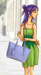 leather handbag illustration