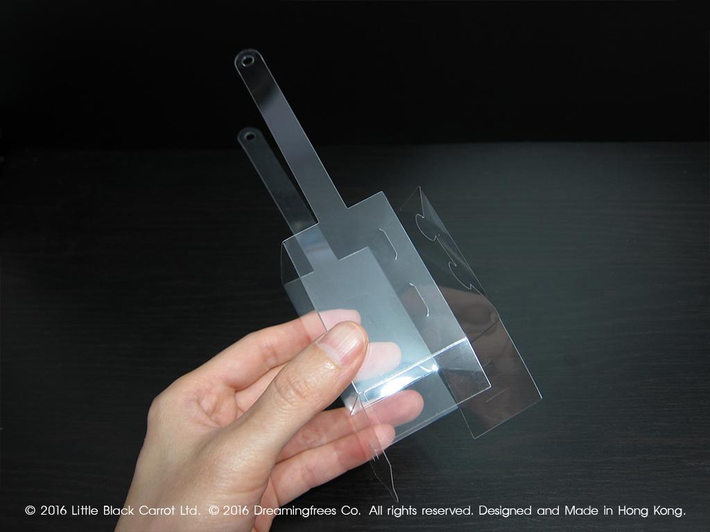 03:沿摺痕把內架摺成一個盒形。