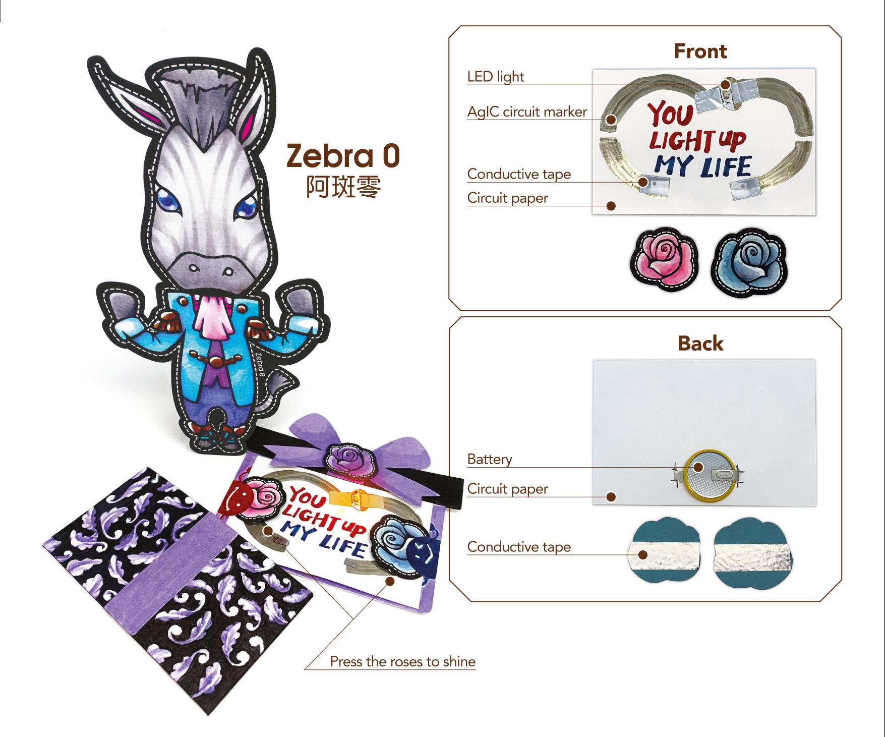 Zebra 0 gift box card set
