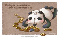 成人世界沒有錢就不快樂 孩童時代沒有錢也很快樂
