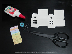 準備工具包括白膠漿、針線、𠝹刀 / 剪刀、間尺和鉛筆