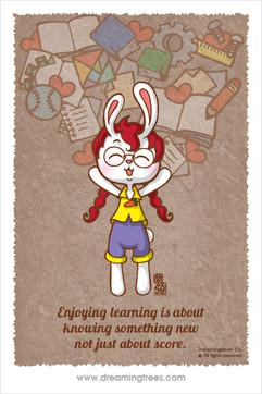 學習的樂趣在於 認識新事物而不是高分數