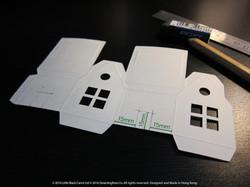 02:背面畫門口位置,圖中尺寸只作參考,DIY朋友可改門口位置及形狀