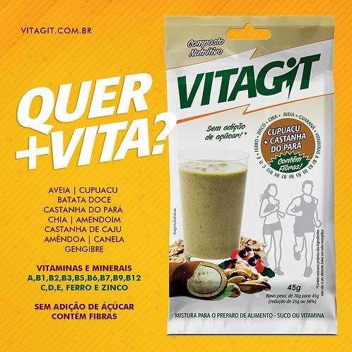 VITAGIT  CUPUAÇU + CASTANHA DO PARÁ - CAIXA COM 10 UNIDADES