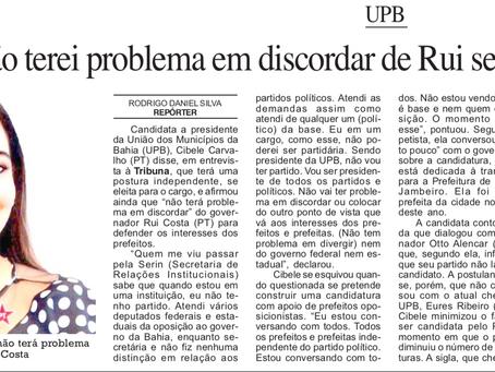 """UPB: """"Não terei problema em discordar de Rui se eu for eleita"""""""