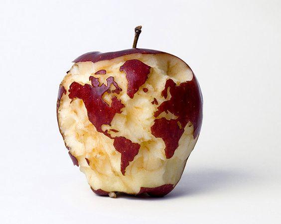 """""""Apple Globe,"""" by Kevin Van Aelst."""