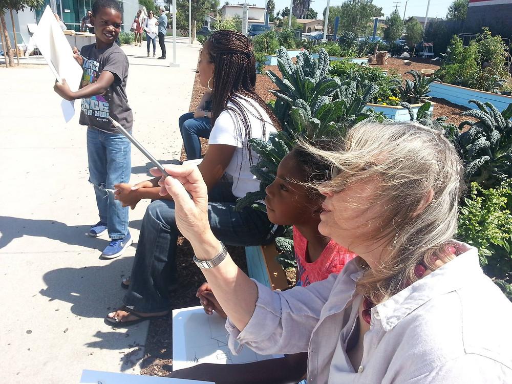 Environ's Willetta McCulloh mentoring children.