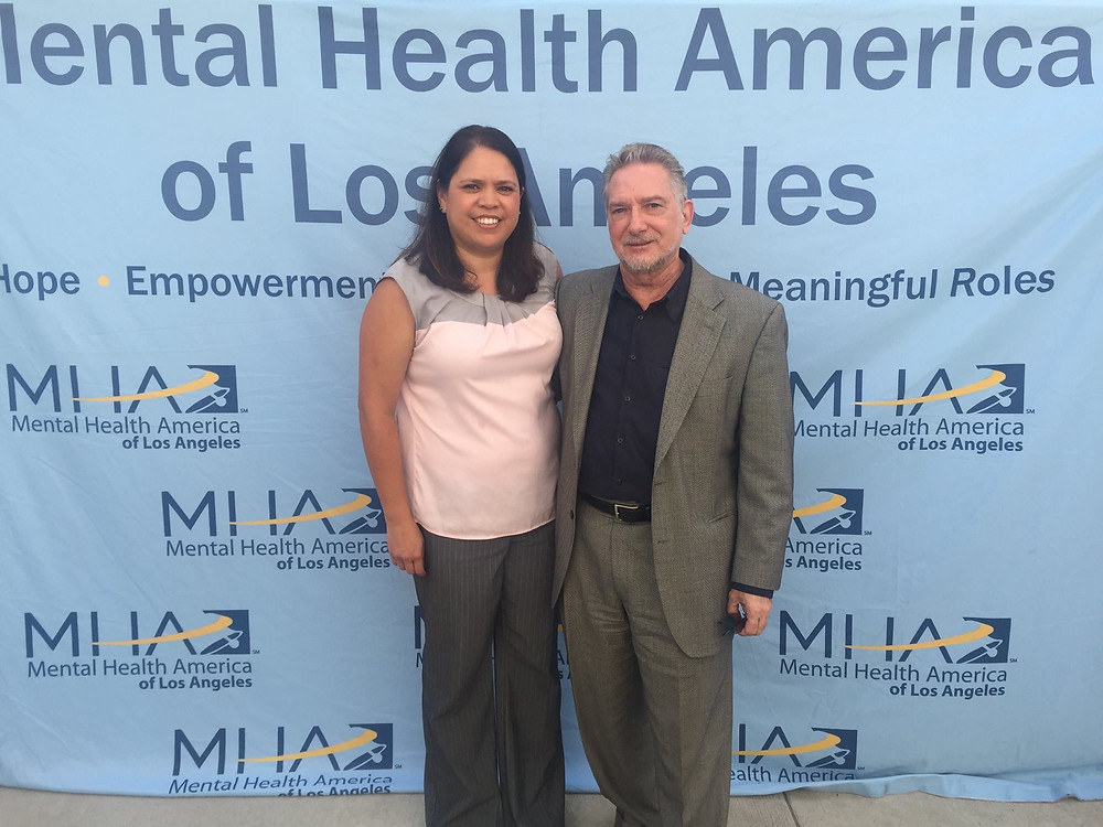 Leticia Mimila and Alan Burks at Mental Health America Groundbreaking.