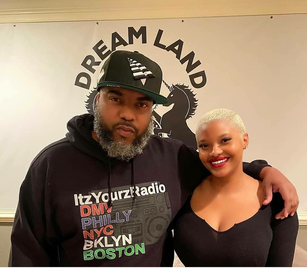 Donni-Oh! and Dreamland Ent Group's Loreal Lewis at an August 2020 meeting.
