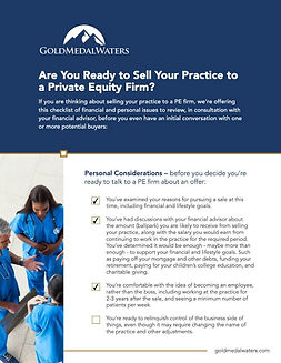 GMW-Selling-Your-Practice-to-a-PE-Checkl