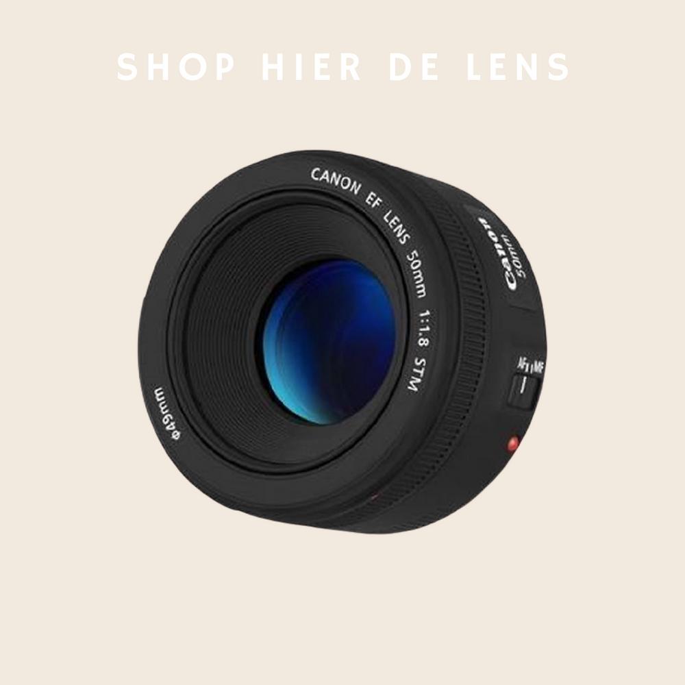 Productfotografie lens Canon 50 mm 1.8
