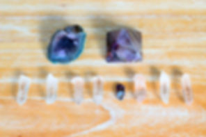 Canva - Two amethysts and eight crystals