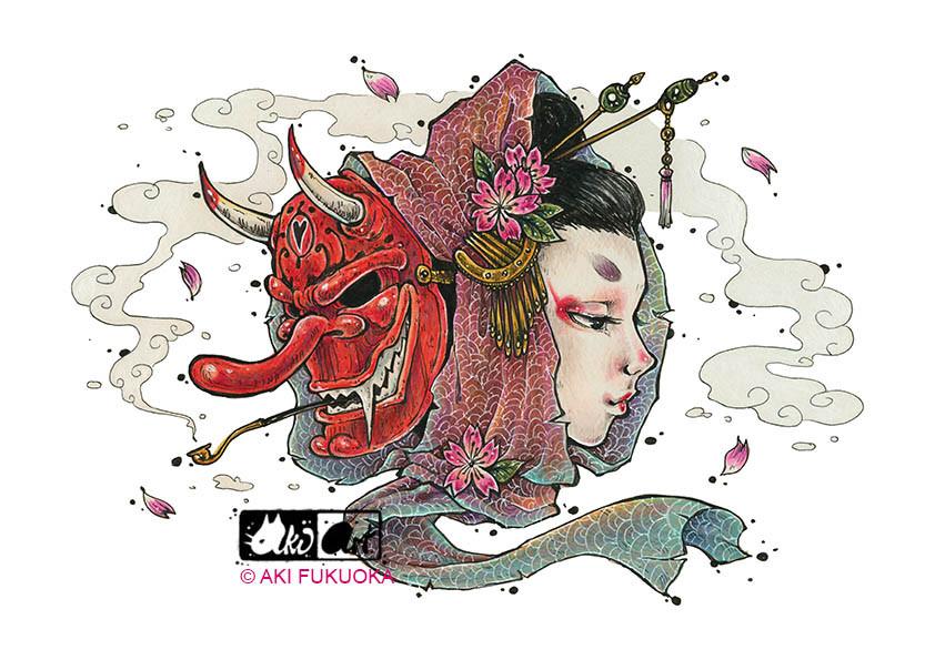 Tengu Geisha- Aki Fukuoka