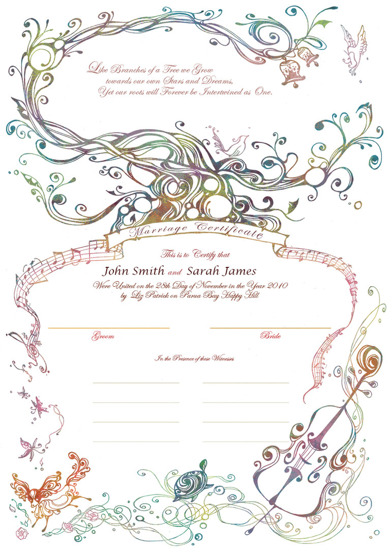 2010 marriage certificate