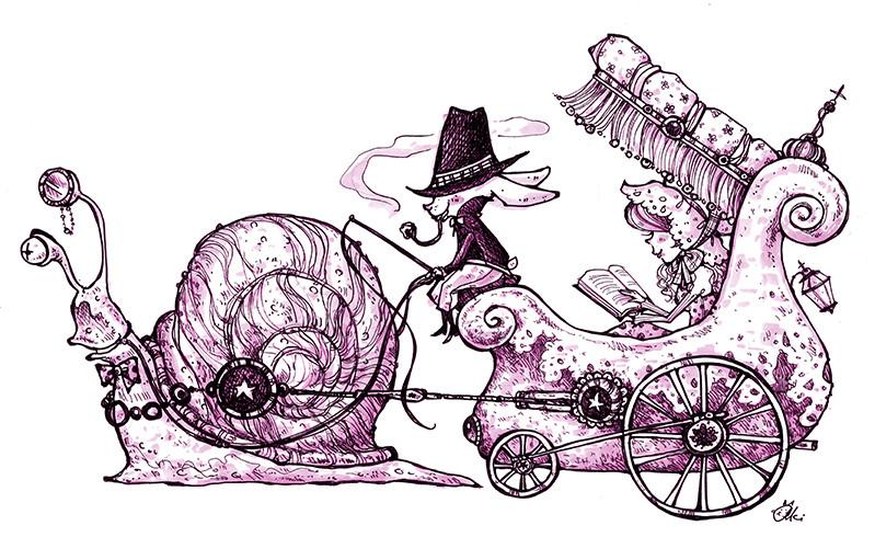 2013 snail carriage- Aki Fukuoka