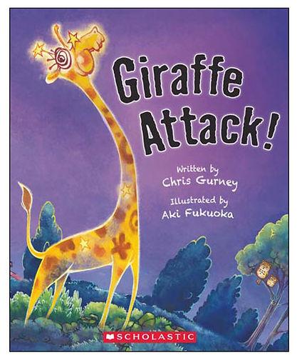 Giraffe Attack- illustrated by Aki Fukuoka