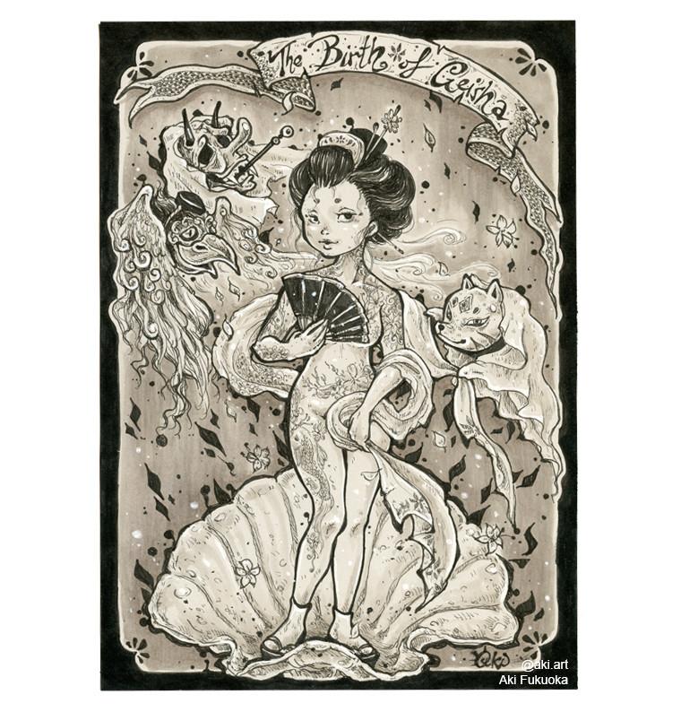 Birth of Geisha- Aki Fukuoka