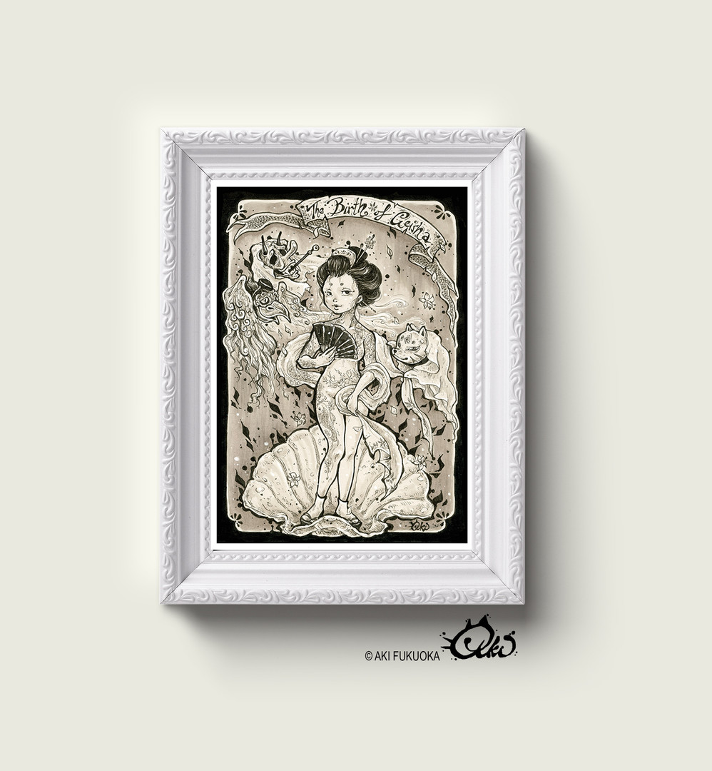 Birth of Geisha Art Print