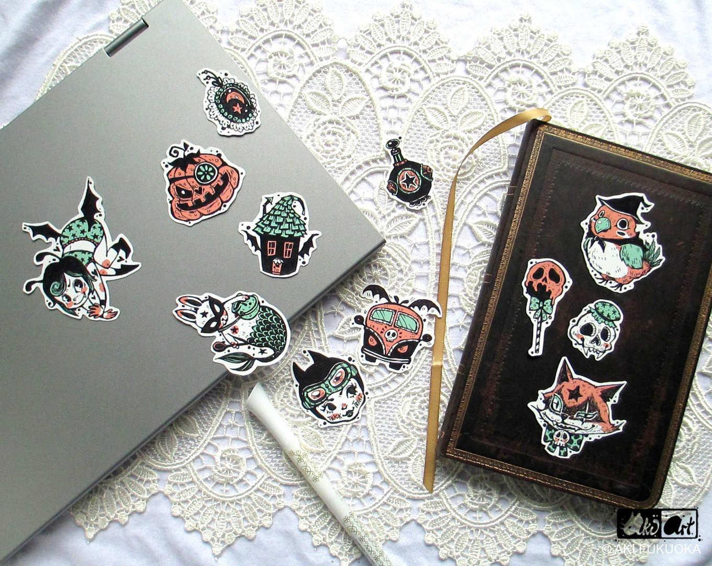 Creepy Creatures Sticker Set