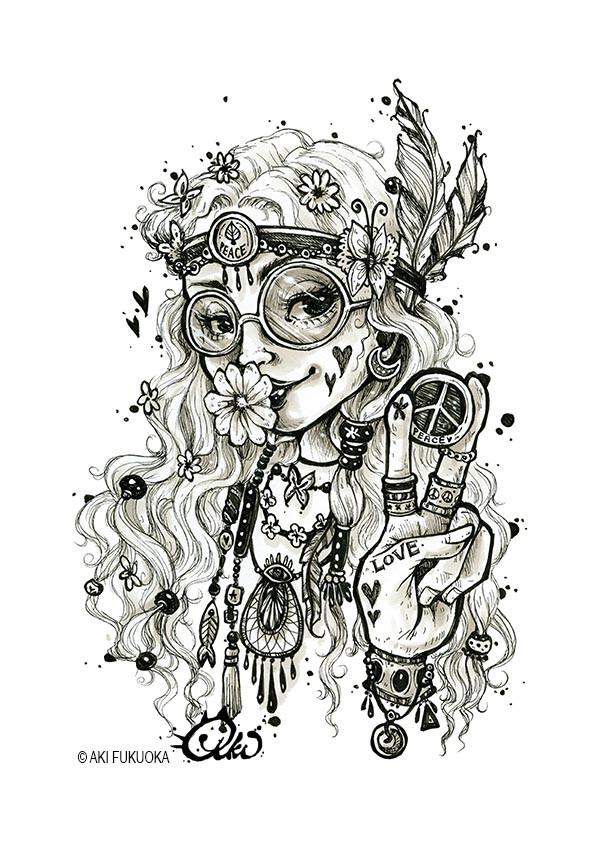 Hippie Girl- Aki Fukuoka