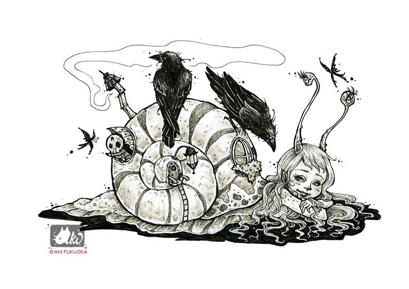 Aki Art- Snail Girl